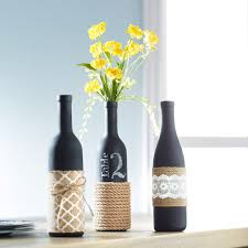 Wine Bottle Home Decor Give Your Home Some Trendy Home Decor With Our Fun Burlap Wrapped