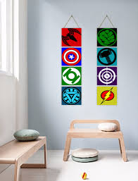 avenge superhero logo giclee print canvas art wall decor kids
