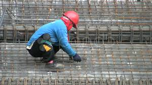 Rebar Worker Asian Construction Worker Doing Rebar Fusion Footage