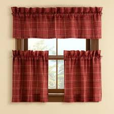 Plaid Kitchen Curtains Valances by Buy Red Kitchen Curtains From Bed Bath U0026 Beyond