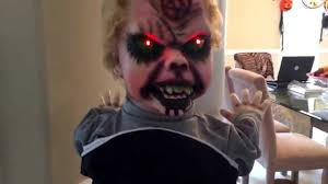 halloween baby face mask morbid animated head spinning baby youtube