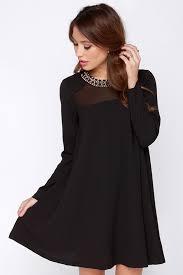 sleeved black dress black sleeve shift dress dresses