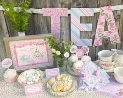 bridal shower tea party tea party printable set baby shower bridal shower or
