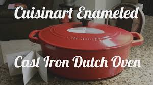 lodge dutch oven table cuisinart enameled cast iron chef s classic oval dutch oven youtube