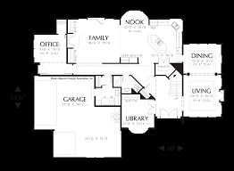 Foyer Plans Mascord House Plan 2301 The Concordia