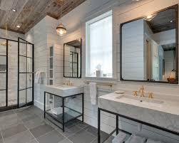Gray Tile Bathroom Ideas by Farmhouse Gray Tile Bathroom Ideas Designs U0026 Remodel Photos Houzz