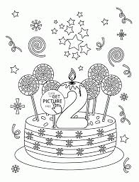 happy 2nd birthday coloring page for kids holiday coloring pages