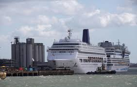 a cruise ship that was stranded at sea for 15 hours because of