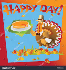 on thanksgiving day pumpkin pie on thanksgiving day thanksgiving stock vector