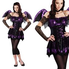 petite purple goth ladies elissa vampire bat fancy dress costume