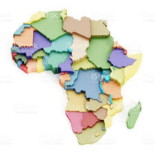 World Map Of Africa by Multicolored Map Of Africa Showing Country Borders Stock Vector