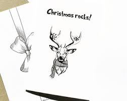 cool christmas card etsy