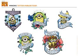 despicable 3 minions tattoo parlor tour universal studios