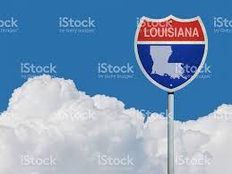 map louisiana highways interstates highway sign for interstate road in louisiana with map in front of