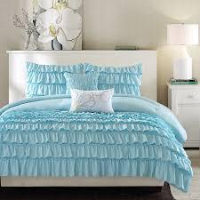 light blue girls bedding blue ruffle bedding sets