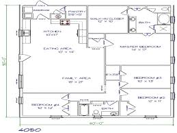 40x50 metal house floor plans 4 sensational design ranch 40x50