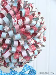 valentine u0027s paper ribbon topiary