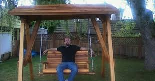 Backyard Swing Sets Canada Freestanding Yard Swings It U0027s A Compact Arbor That Is Cleverly
