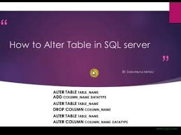 Alter Table Change Data Type Sql Server How To Alter Table In Sql Server