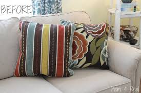 Couch Pillow Slipcovers How To Make No Sew Pillows Mom 4 Real