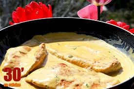 cuisine escalope de dinde escalope de dinde à la moutarde 30 minutes en cuisine