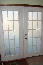 window treatment idea for frosted glass french door decofurnish