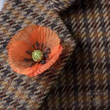 red poppy boutonnieres for remembrance day veterans day