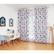 Childrens Room Curtains 1pcs Lovely Car Window Curtain Blockout Curtains