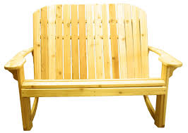 Loveseat Glider Big Bear Adirondack Love Seat Rocker Big Bear Chair