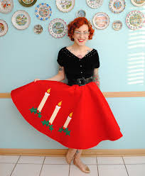 christmas skirt novelty felt christmas skirt by gum by golly