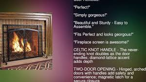 celtic knot large fireplace screen with hinged doors powder