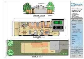 Home Plans With Elevators 11 Single Story House Plans For Narrow Lots Lot Intricate Nice