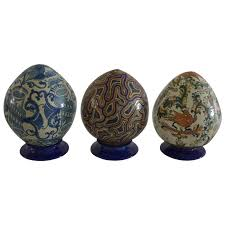 decorated eggs for sale mexican colorful ceramic talavera decoration eggs for sale at 1stdibs
