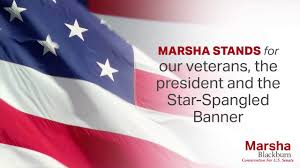 Blackburn Flags Stand For Our Veterans Stand For The Anthem Marsha Blackburn