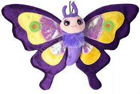 purple butterfly stuffed plush butterfly toys