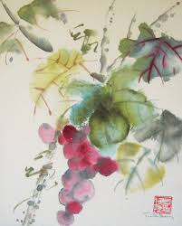 original watercolor chinese brush painting gs by 3katdesign