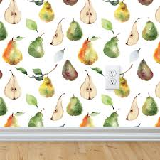 vintage pears wallpaper self adhesive u2013 rocky mountain decals