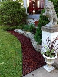 red lava rock landscape ideas would look cool at our house