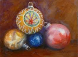 vintage bulbs painting still ornaments