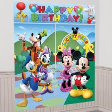 mickey mouse decor ebay disney mickey mouse happy birthday party scene setter wall decorating kit