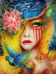 colorful portrait paintings by svenja jödicke google images