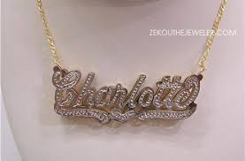 personalized name plate necklaces unthinkable name plate necklaces nameplate necklace etsy gold