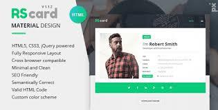 Top Resume Sites Best Resume Website Templates 50 Best Html Resume Cv Vcard