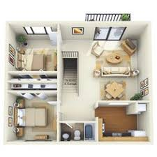 Apartment Designs And Floor Plans 2 Bedroom House Plans 3d Google Search House Plans Pinterest