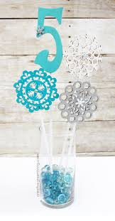 frozen centerpieces easy to make frozen party centerpieces works for winter or