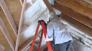 Insulating Vaulted Ceilings by Cathedral Ceiling Foam Insulation By Vafoam Com Youtube