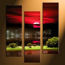 Red And Purple Home Decor by Red Black Canvas Art Hd Printed 3 Piece Canvas Art Red Letter
