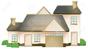 illustration of a house on a white background royalty free
