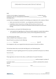 job letter sample employee termination task action plan template