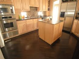 elegant oak cabinets with dark wood floors paint color to tone